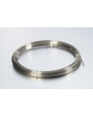No.6 Hard Stainless Steel Half Round Wire - 30gm