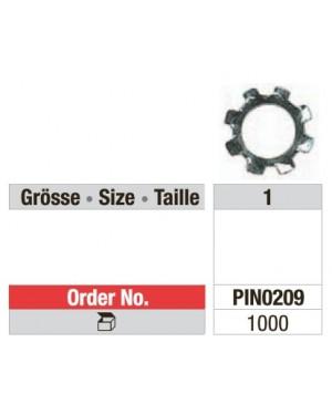 Galvanised Retention Rings - Pk 1000