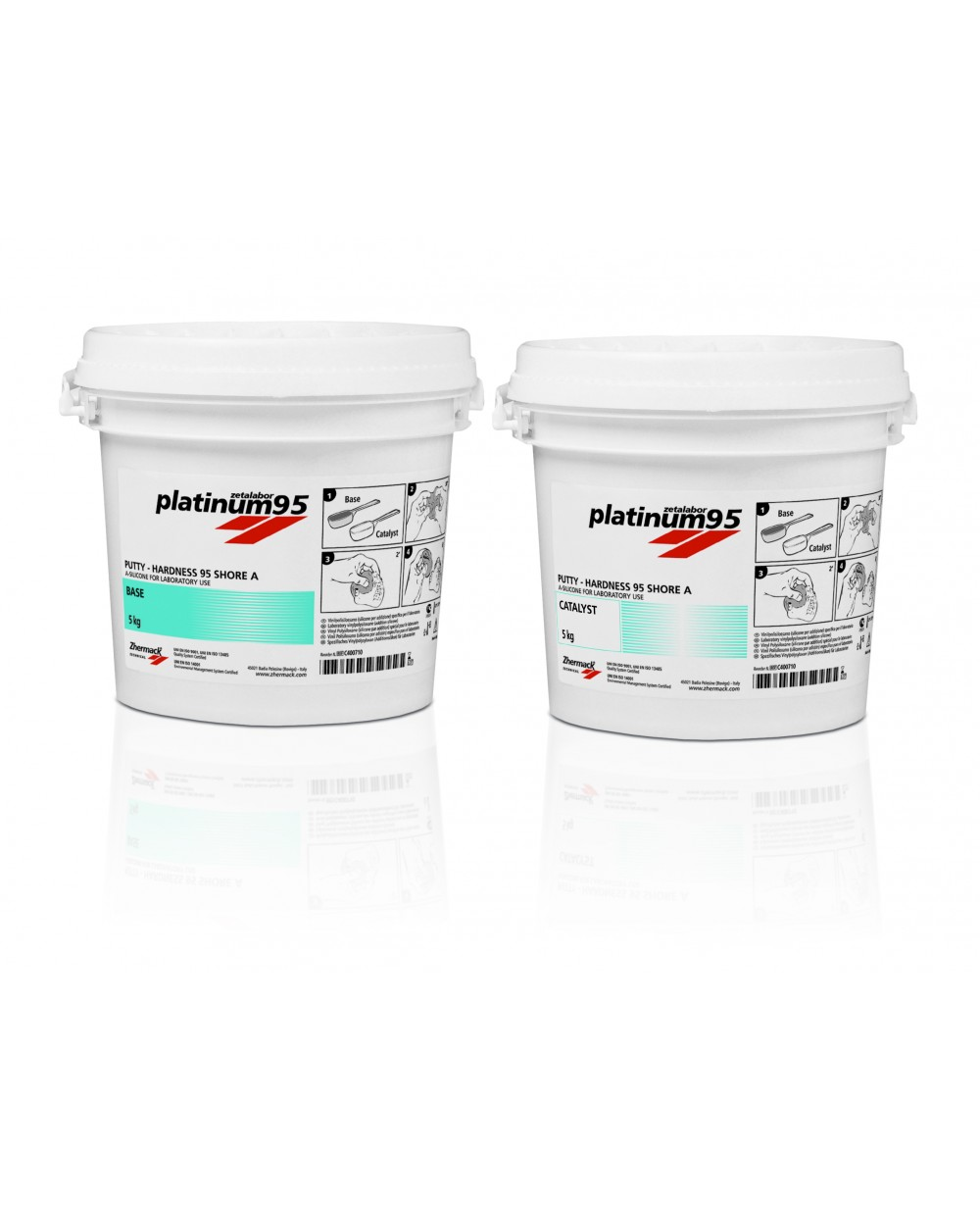 2 x 5kg Zetalabor Platinum 95 Putty - Silicone Lab Putty