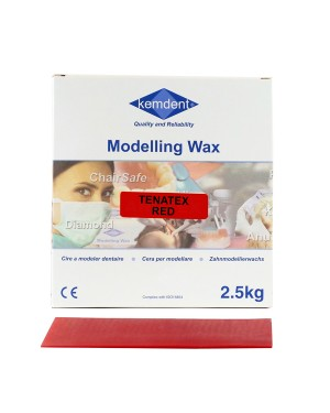 6 x 2.5kg Tenatex Modelling Wax - Red