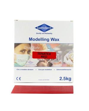 6 x 2.5kg Tenatex Modelling Wax - Red