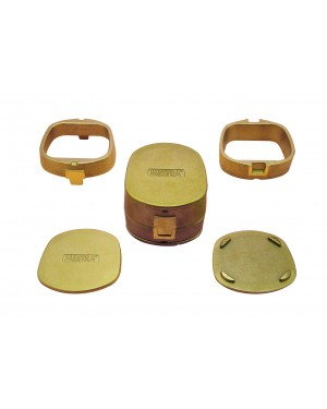 Mestra Brass Flask - Square