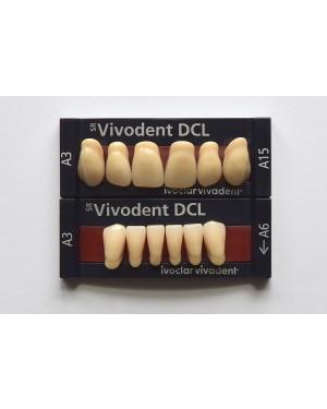 1 X 6 SR Vivodent DCL - Upper Anteriors - Mould A27, Shade C2