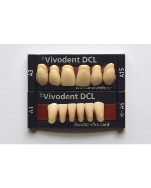 1 X 6 SR Vivodent DCL - Lower Anteriors - Mould A8, Shade A1