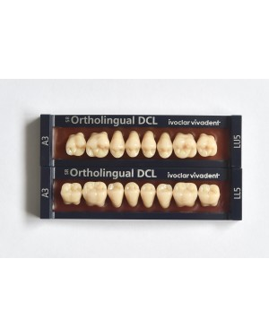 1 x 8 SR Ortholingual DCL - Lower Posterior - Mould LL5, Shade C3