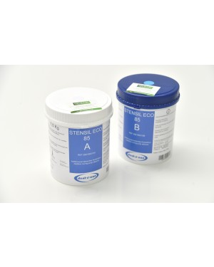 2 x 1.5kg Stensil Eco 85 Duo Lab Putty - 2 part, base & catalyst - Blue - Sarros Duo alternative