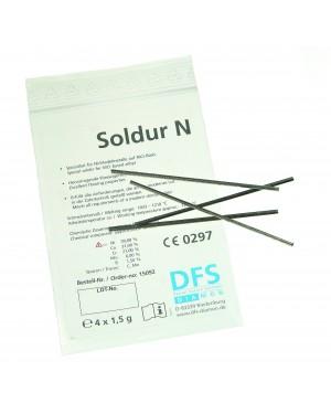 4x1.5gm 'Soldur N' - Non-Precious (NiCr) Solder