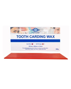 500gm Tooth Carding Wax - Orange (Soft)