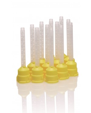 Silicone Cartridge Mixing Tips - Yellow (Pk 50)