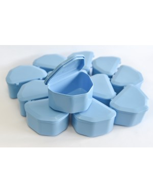 Light Blue Denture Boxes - Pk 12
