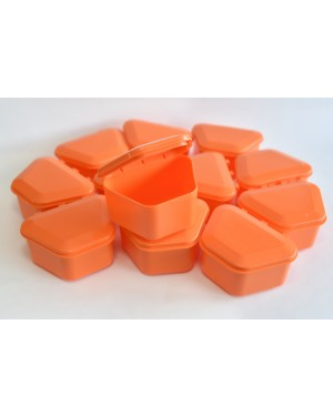 Orange Denture Boxes - Pk 12