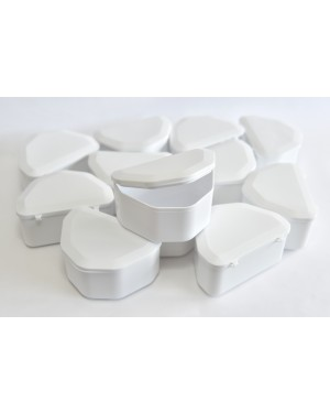White Denture Boxes - Pk 12