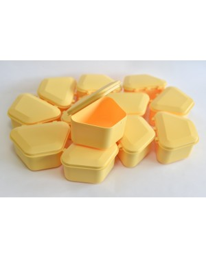 Yellow Denture Boxes - Pk 12