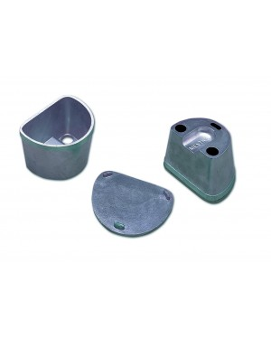 Alloy Duplicating Flask with Alloy Base - Small