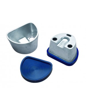 Alloy Duplicating Flask with Flat Rubber Base - Small
