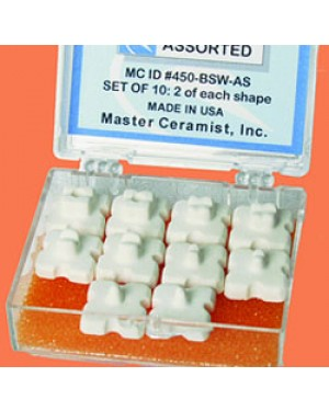 Assorted Balanced Firing Pegs - White (Pk 10)
