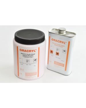 1kg + 500ml Oracryl Cold Cure Kit - Clear Acrylic
