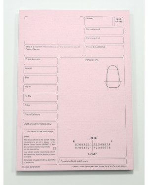 Pink Worktickets - Book of 50