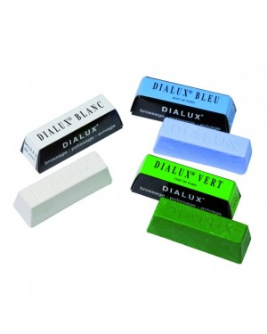 Dialux GREEN lustre polishing paste - Super finishing polish for hard metals including platinum, chrome & stainless steel